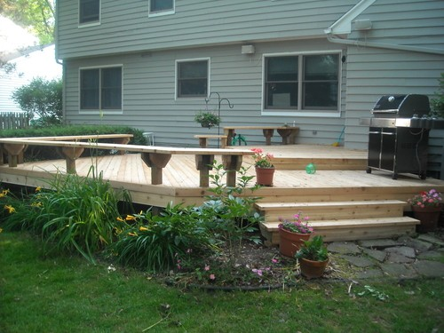 Deck With Bench