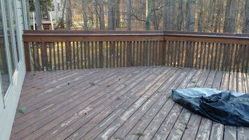 New Trex Deck Thorngate Drive East Lansing Before