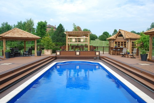 Poolside and Hot Tub Decks