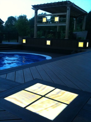 Lansing Deck Lighting, Deck Lighting Lansing, Custom Built Design & Remodeling, Custom Built Design & Remodeling