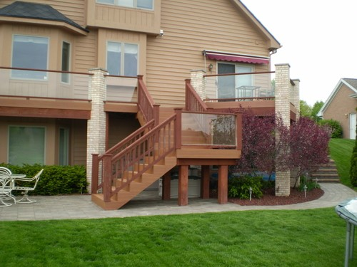 Deck Stairway, Deck Stairways, Custom Built Design & Remodeling, Custom Built Design & Remodeling